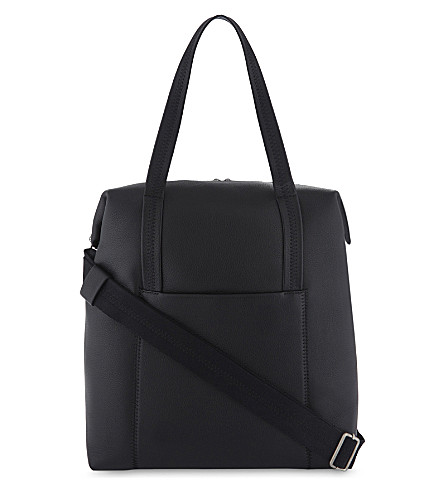 MAISON MARGIELA Oversized grained leather tote bag (Black