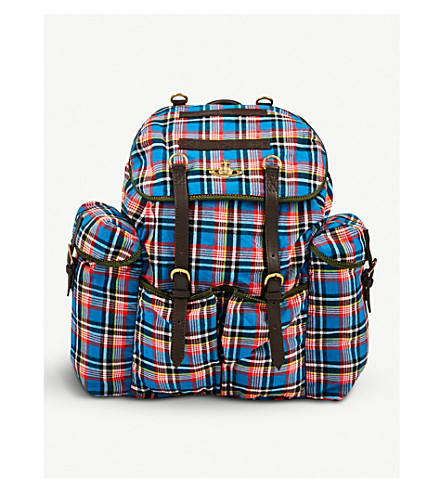 VIVIENNE WESTWOOD Army cotton-canvas backpack (Blue
