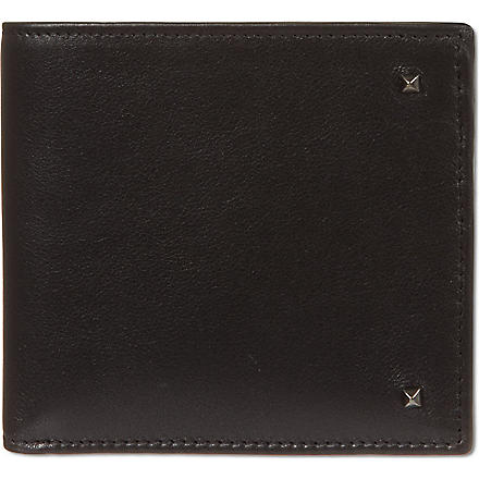 VALENTINO Black leather studded billfold (Black