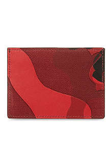 VALENTINO Camo card holder