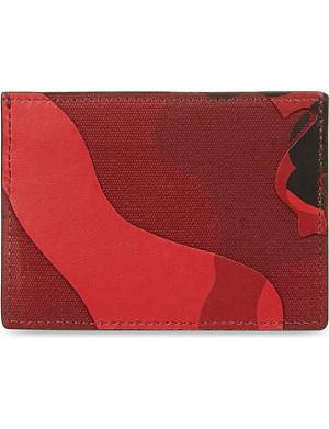 VALENTINO Camo card holder