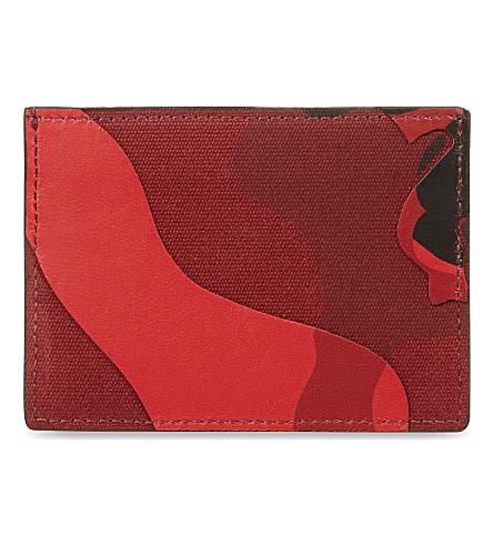 VALENTINO Camo card holder (Red