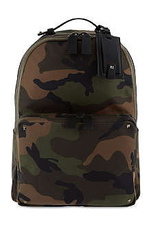 VALENTINO Camo studded backpack