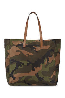 VALENTINO Nylon camo shopper