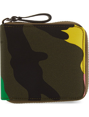 VALENTINO Camouflage zip-around wallet