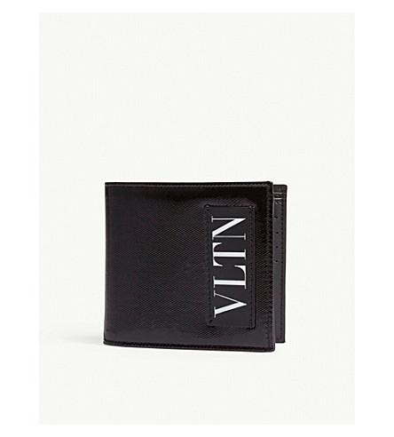 VALENTINO VLTN patent leather billfold wallet (Black