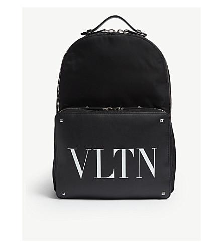 white backpack leather VLTN nylon VALENTINO and VALENTINO Black print VLTN wqfPaxOzB