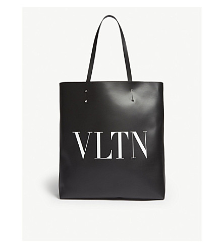 Amazing Price For Sale Discount Really VALENTINO VLTN leather tote Black/white Clearance Clearance Store 8p9l6yq4uu