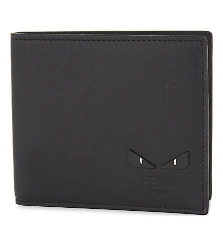 FENDI Monster eyes billfold wallet (Blk+palladium