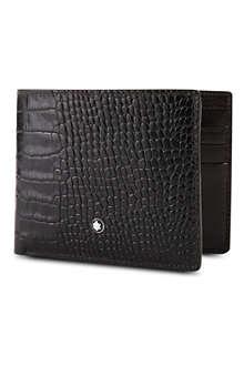 MONTBLANC Meisterstück 6cc croc-embossed leather wallet
