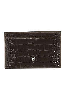 MONTBLANC Croc-embossed leather card holder