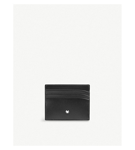MONTBLANC Meisterstück leather 6cc credit card holder (Black
