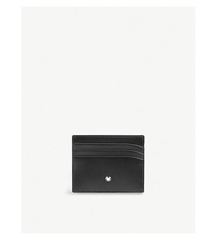 MONTBLANC Meisterstück 皮革6cc 信用卡卡夹 (黑色