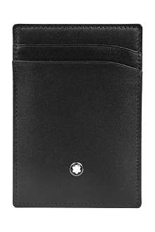 MONTBLANC Meisterstück leather 2cc holder with money clip