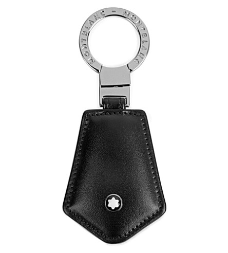 MONTBLANC Meisterstück 皮革钥匙链 (黑色