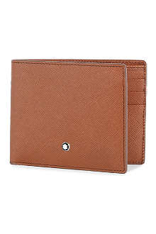 MONTBLANC Safiano leather 6cc wallet