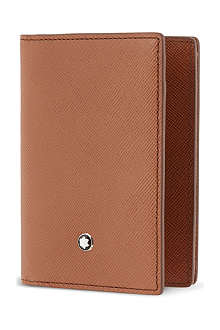 MONTBLANC Safiano leather card wallet
