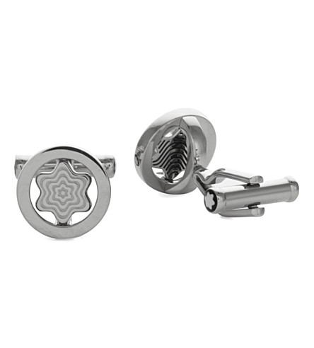 MONTBLANC Iconic Swivel Star cufflinks (Silver