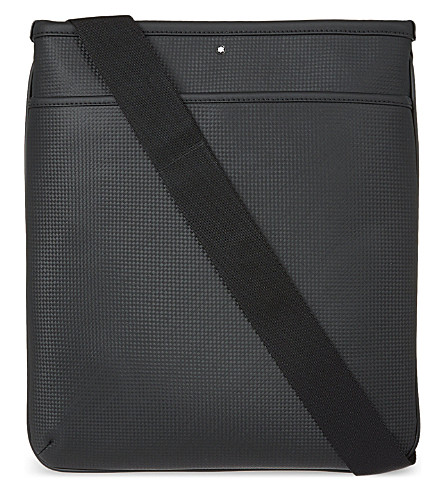 MONTBLANC Westside leather envelope shoulder bag (Black