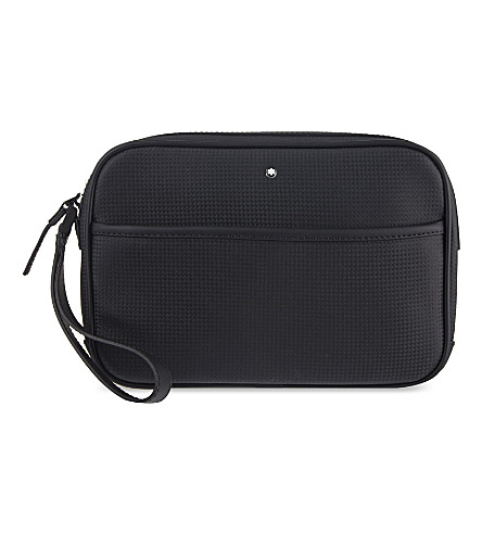 MONTBLANC Westside Extreme leather washbag (Black