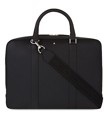 MONTBLANC Meisterstück Soft Grain leather document case (Black