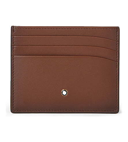 MONTBLANC Meisterstück Sfumato leather card holder (Brown