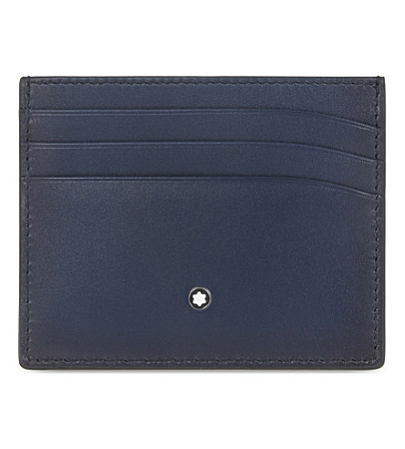 MONTBLANC Meisterstück Sfumato leather card holder (Navy