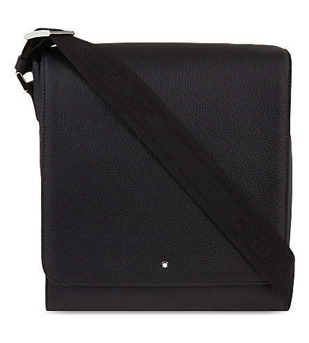 MONTBLANC Meisterstück Soft Grain North South leather messenger bag (Black