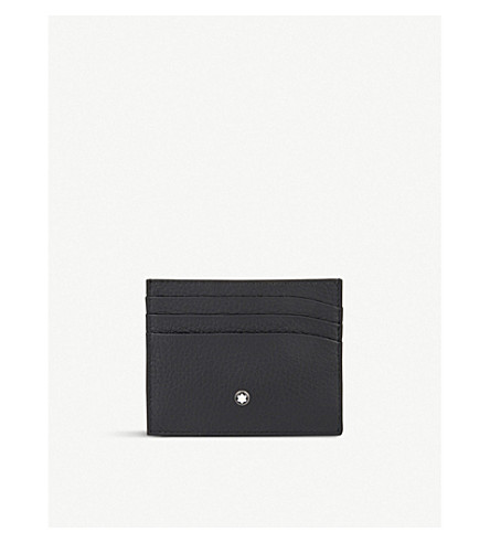 MONTBLANC Grained leather card holder (Black
