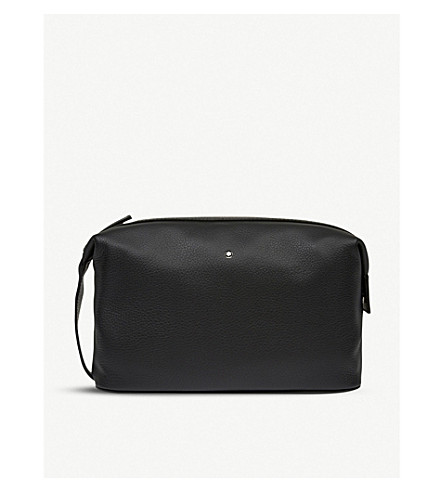 MONTBLANC Meisterstück soft grain leather wash bag (Black