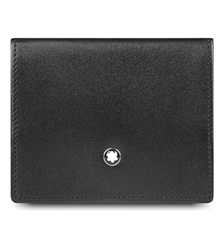 MONTBLANC Meisterstück leather small coin case (Black