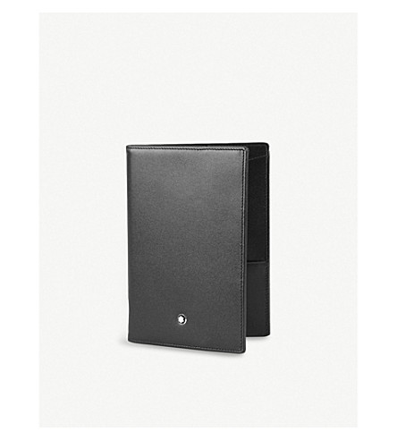MONTBLANC Meisterstück leather passport holder (Black