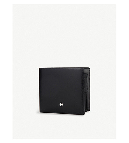 MONTBLANC Meisterstück leather 4cc wallet (Black