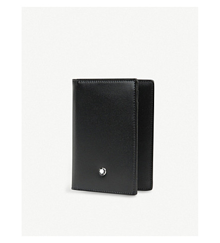 MONTBLANC Meisterstück leather business card holder (Black