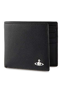 VIVIENNE WESTWOOD Saffiano leather billfold wallet