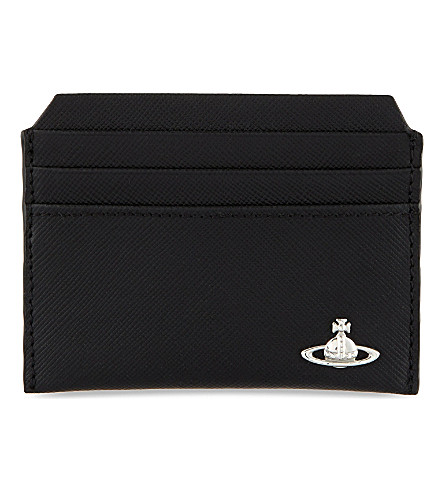 VIVIENNE WESTWOOD Saffiano leather card holder (Black
