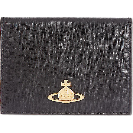 VIVIENNE WESTWOOD Saffiano leather card case (Black