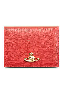 VIVIENNE WESTWOOD Saffiano leather card case