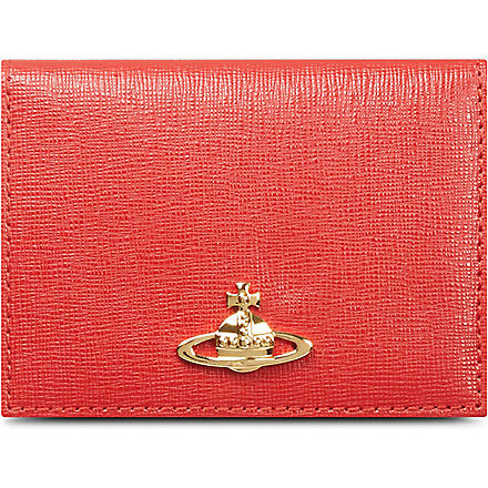 VIVIENNE WESTWOOD Saffiano leather card case (Red