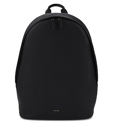 PAUL SMITH ACCESSORIES City leather backpack (Black