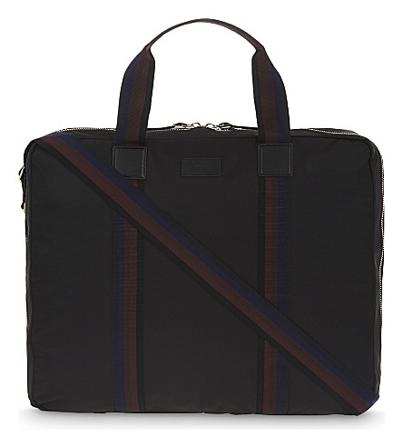 PAUL SMITH ACCESSORIES City Webbing nylon garment bag (Black