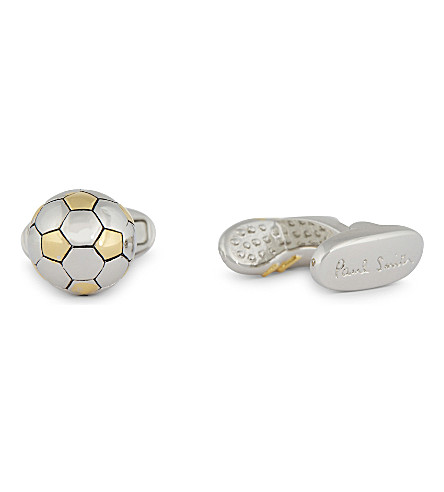 PAUL SMITH ACCESSORIES Football and boot cufflinks (Silver
