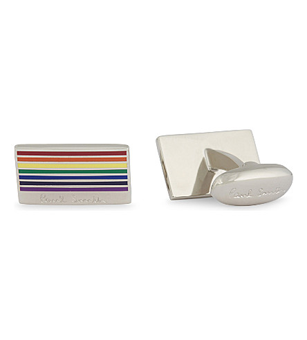 PAUL SMITH ACCESSORIES Enamel rainbow cufflinks (Metal