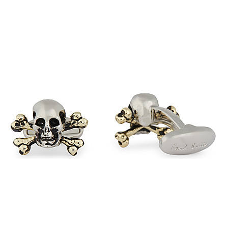 PAUL SMITH ACCESSORIES Skull and crossbones cufflinks (Silver