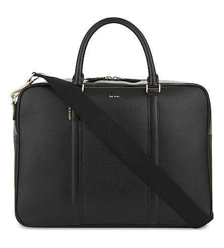 PAUL SMITH ACCESSORIES City Embossed leather briefcase (Black