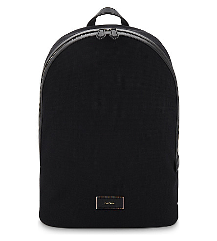 PAUL SMITH ACCESSORIES Canvas backpack (Black