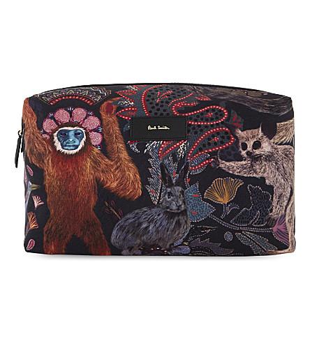 PAUL SMITH ACCESSORIES Monkey print wash bag (Multi