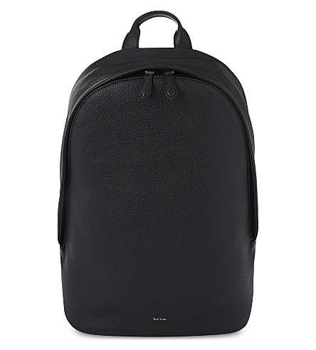 PAUL SMITH ACCESSORIES City Webbing grained leather backpack (Black