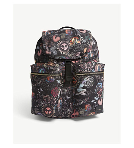 PAUL SMITH ACCESSORIES 1974 drawstring backpack (Multi