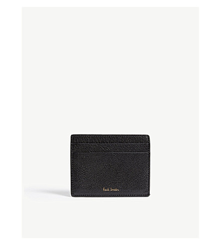 PAUL SMITH Colour-block leather card holder (Black